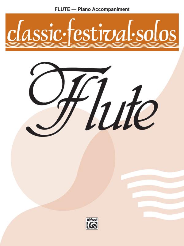 Classic Festival Solos (C Flute), Volume 1 Piano Acc.