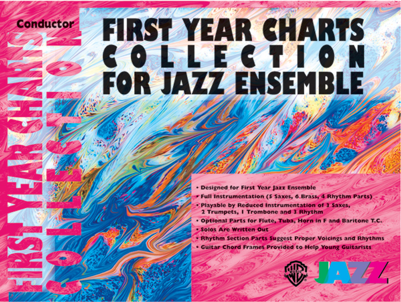 FIRST YEAR CHARTS COLLECTION FOR JAZZ ENSEMBLE SAXOPHONE TEN