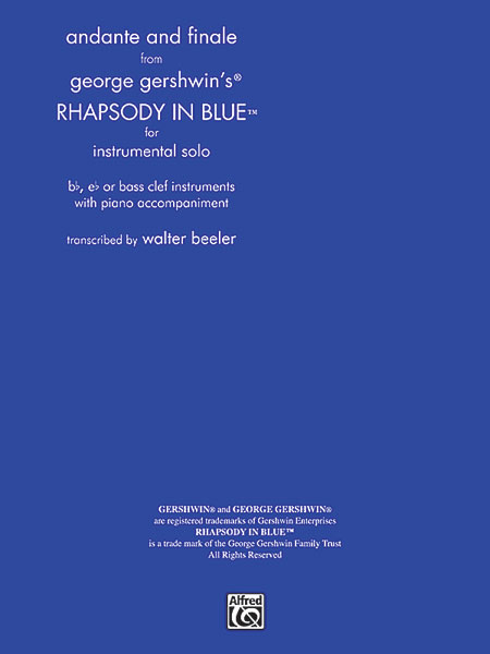 ANDANTE & FINALE FROM RHAPSODY IN BLUE BB EB OR BASS CLEF GE (TS0008 ) (Trumpet Solos )