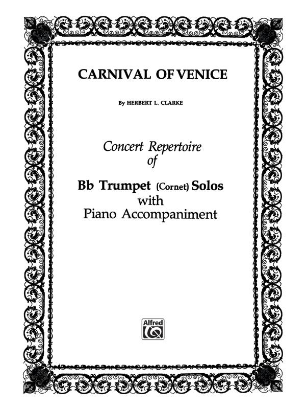 CARNIVAL OF VENICE CLARKE (TS0014 ) (Trumpet Solos )