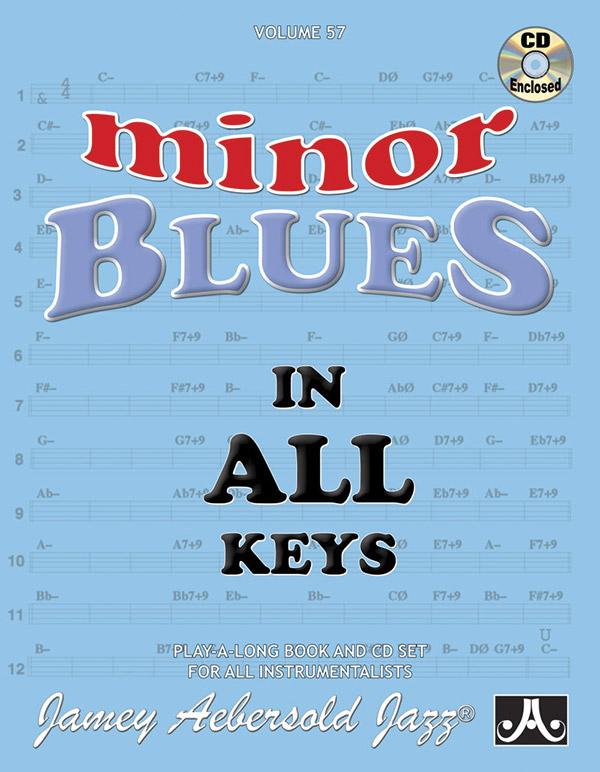 AEBERSOLD JAMEY 57 MINOR BLUES IN ALL KEYS BKCD