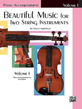 Beautiful Music For Two String Instruments Piano Acc., Book 1