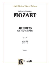 Mozart- Six Duets For Two Clarinets. Volume 1 (Nos. 1-3)