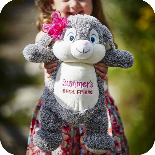 Cubbies Grey Bunny Cubby Stuffie