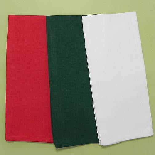 Flat Weave Dishtowels, Red