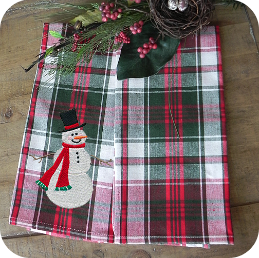 Happy Holiday Plaid Kitchen Towel