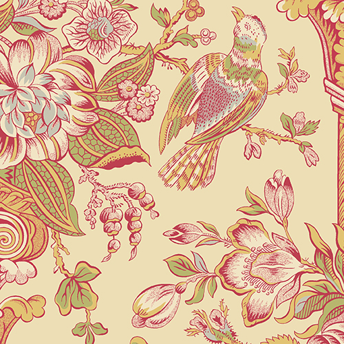 Florals and Birds: Cloverdale House by Di Ford-Hall for Andover Fabrics