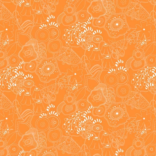 Grow - Tangerine by Sun Prints