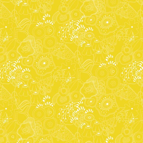 Sun Print 2016 Floral on Gold (Grow - Straw)