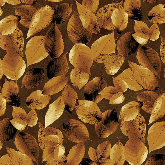 Brown Leaves:  Northwoods by Kathy Hall for Andover Fabrics