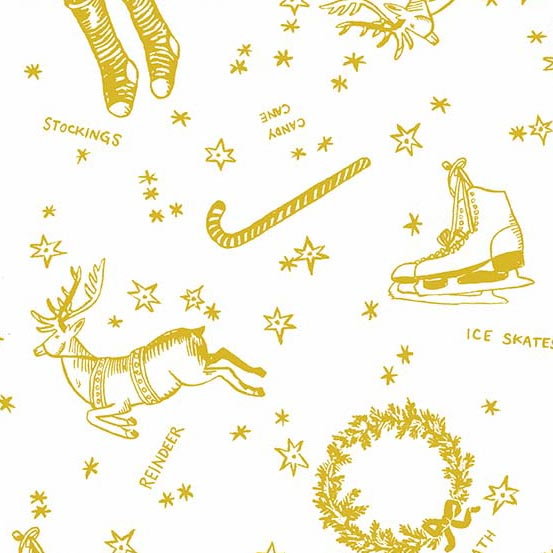 Good Cheer Deck the Halls in Gold