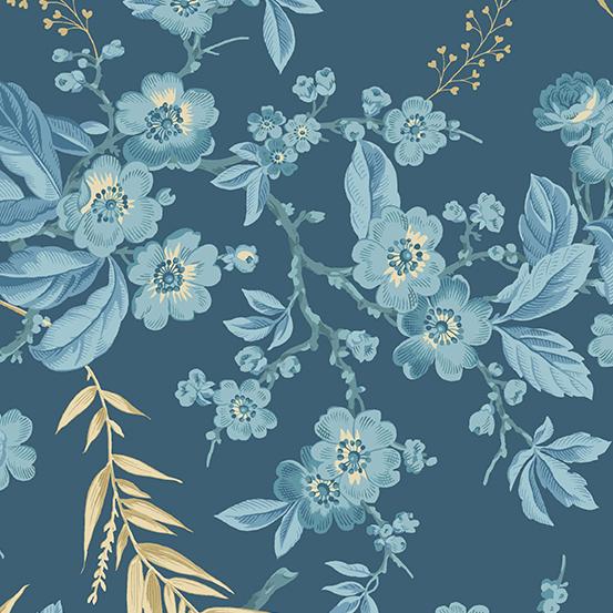 Andover Something Blue Dark Blue Pattern Bouquet