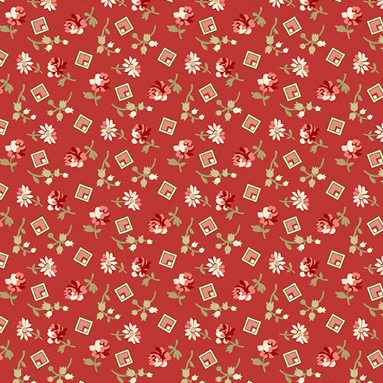Andover - Little Sweetheart by Laundry Basket Quilts - Something Borrowed Crimson