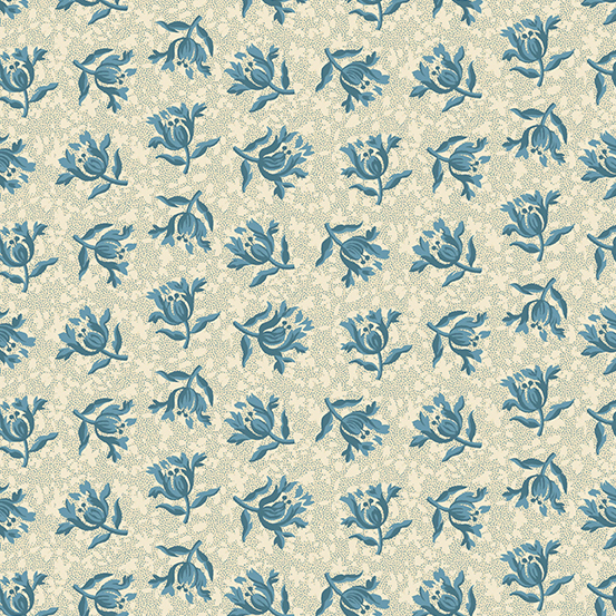 Andover - Something Blue by Laundry Basket Quilts - Peony A-8829-L