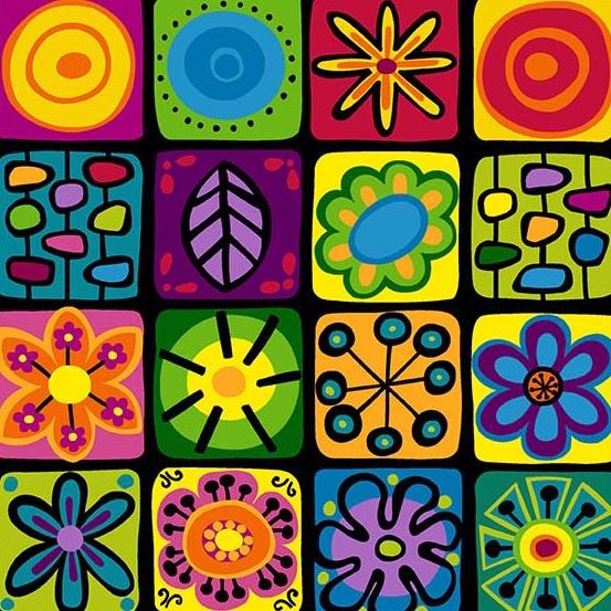Doodlicious Tiles Blk