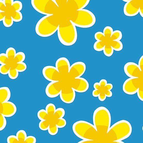 Doodlicious Floral Blue