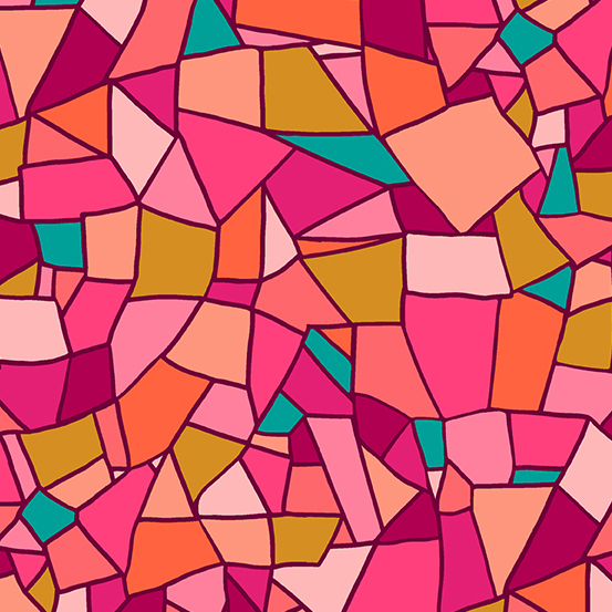 Mosaic - Pink stain glass