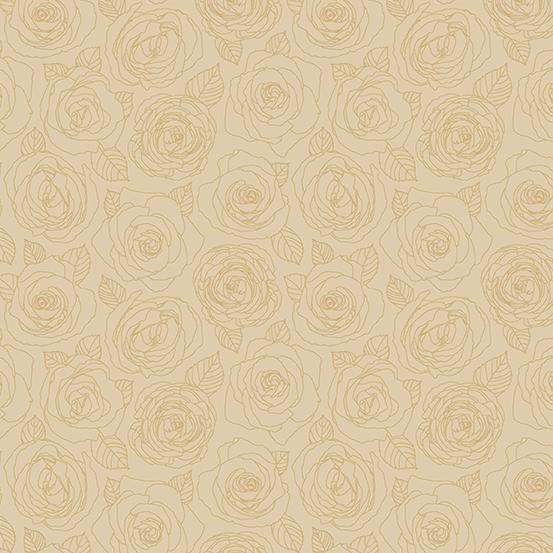 Mosaic Roses Outline Parchment