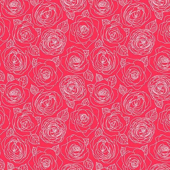 Mosaic Roses Outline Cherry