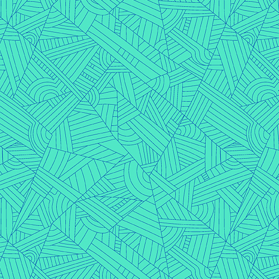 Mosaic Lines Turquoise