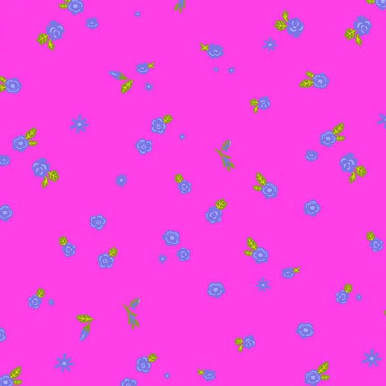 Sun Print 2019 Tiny Blue Flowers on Pink (Day Dream Admire)