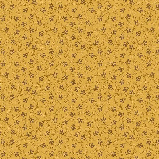 Andover 2020 Trinkets Dotty Vine Cheddar A-9016-N by Kathy Hall