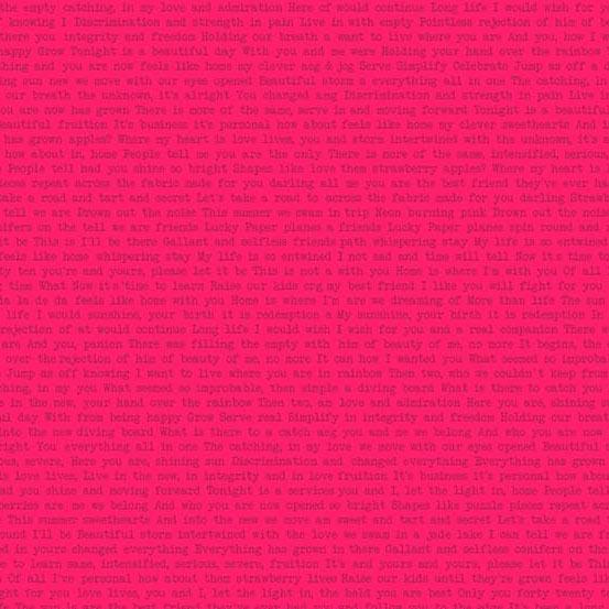 Sun Print 2019 Text Print - Pink (Path Sweet)