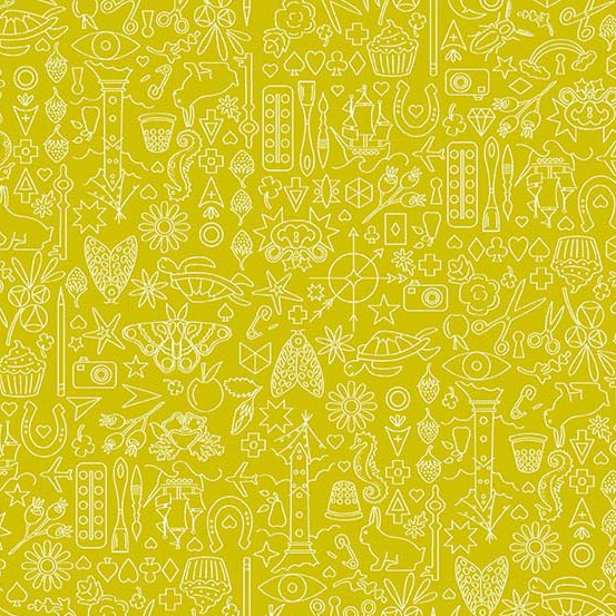 Sun Print 2019 A-9036-G Chartreuse Collection