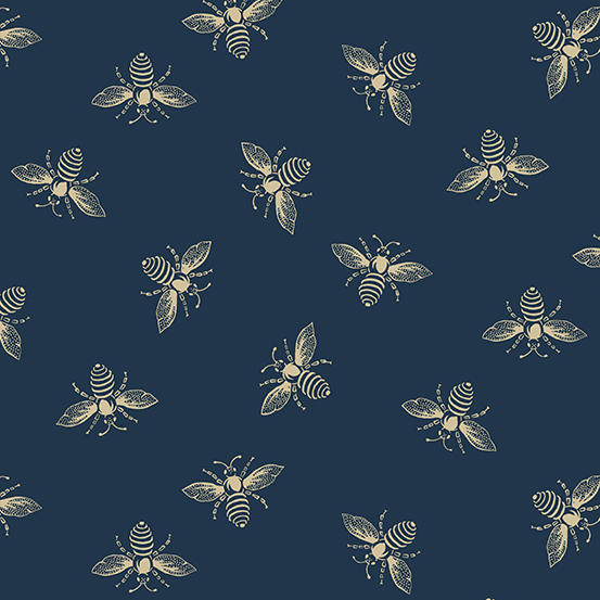 Beehive Bees blue