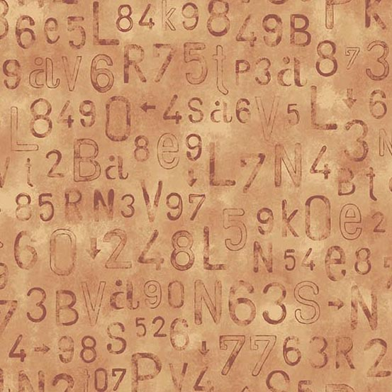 Rough Hewn - Letters and Numbers<br>A-9153-O Orange