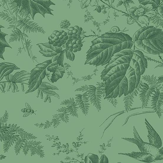Evergreen Toile Wintermint