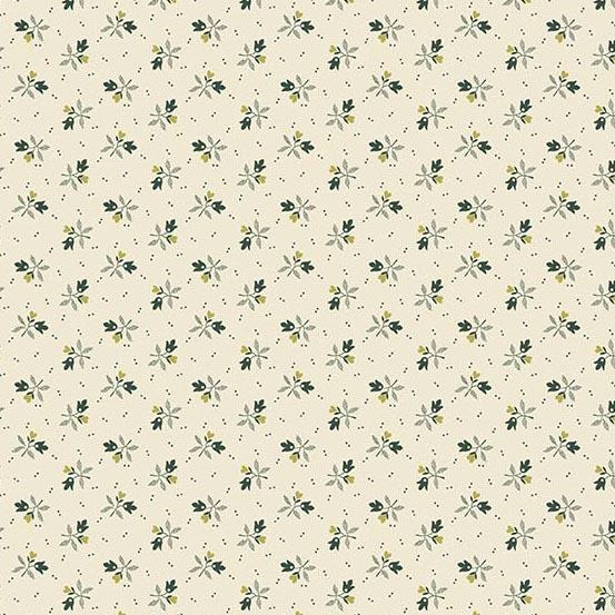 Evergreen cream w/ green sprig