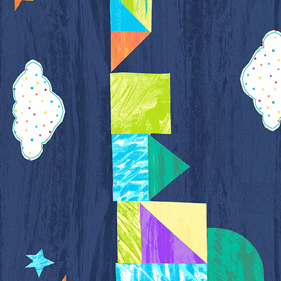 The Very Hungry Caterpillar Dark Blue Castle Border Bright A-9196-B