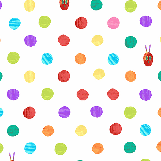 The Very Hungry Caterpillar Dots White