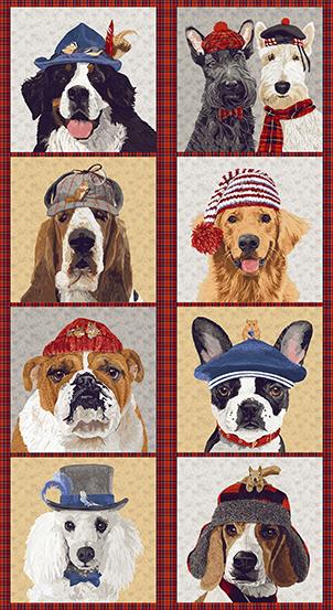 Andover Ruff Life A-9203-R Dog Panel