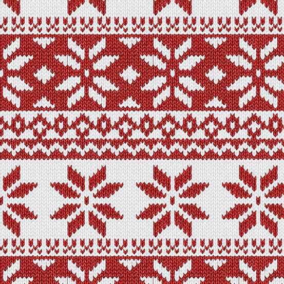 Andover Ruff Life A-9205-R Red Border Stars