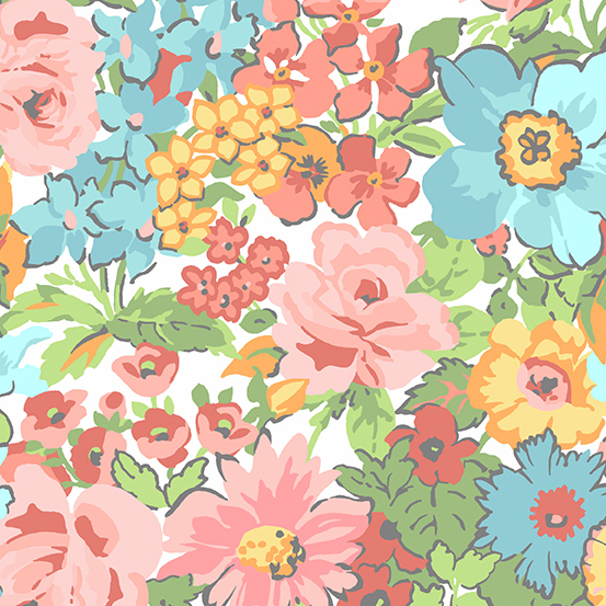 Roseberry Cottage A-9208-T Cream Traditional Floral