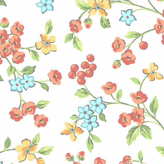 Roseberry Cottage - Flowers Cream