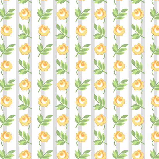 Roseberry Cottage A-9212-Y, FLORAL STRIPE, YELLOW