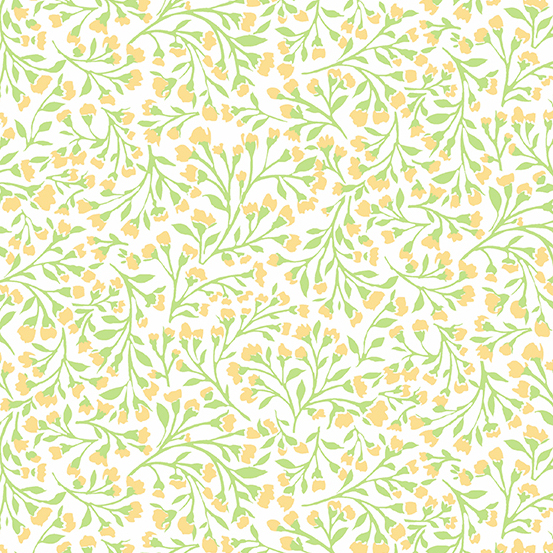 Roseberry Cottage A-9214-Y, VINE, YELLOW