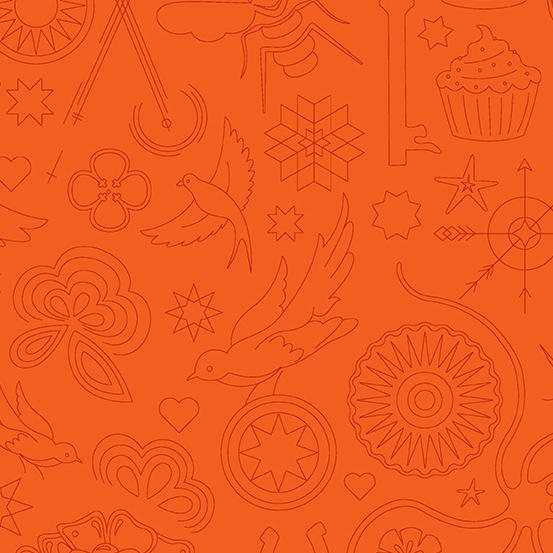 Sun Print 2020 - Embroidery - Pumpkin