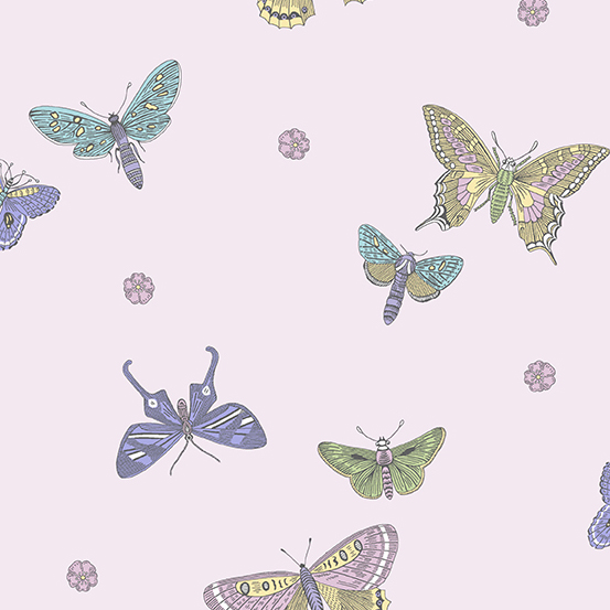 Andover Botanica All over Butterflies on Purple 2020 A-9260-P