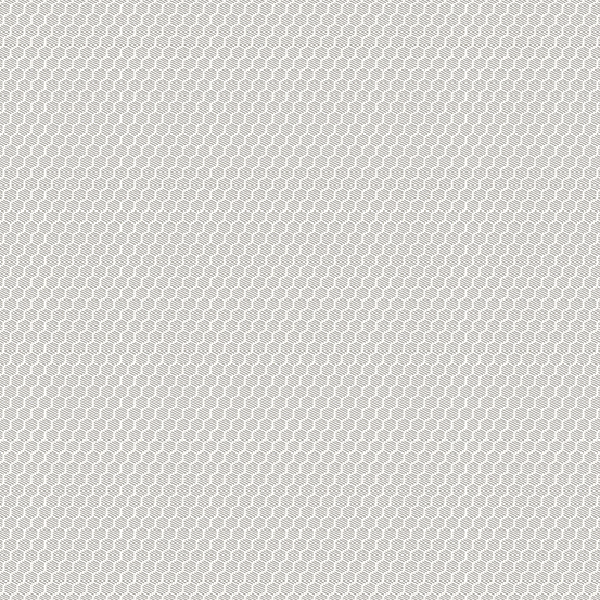 Andover Botanica Honeycomb Gray & White Fabric 2020 A-9265-C