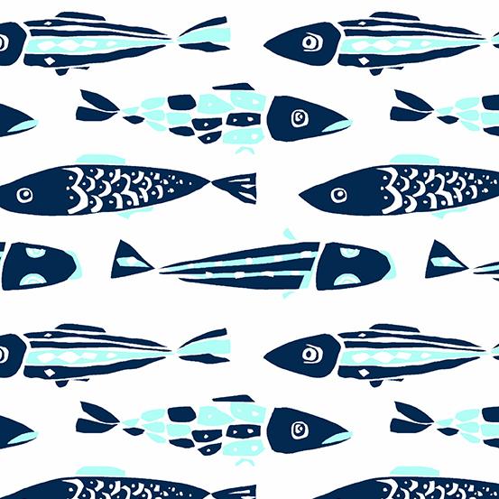 Sea Fishes White