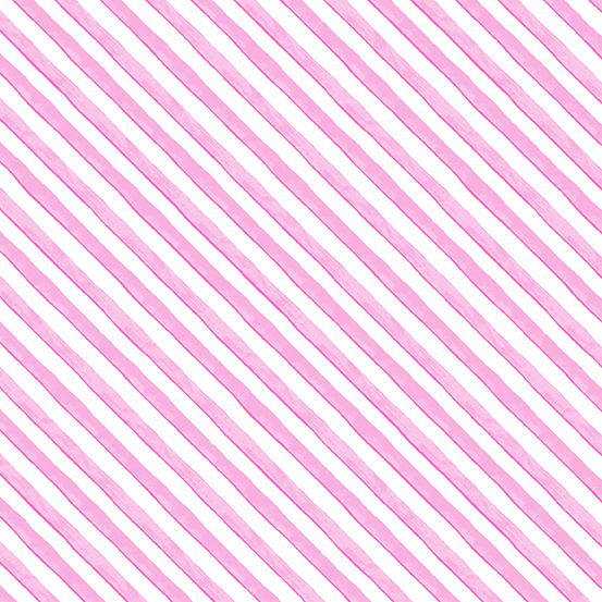 A-9346-E Meow Meadow  Diagonal Stripe Pink (20G)