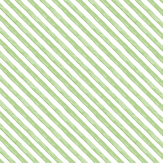 A-9346-GMeow Meadow Diagonal Strip- Green  (20G)