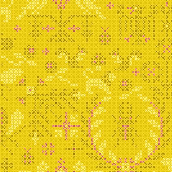 Sun Print 2020 Crosstitch 9387-Yellow