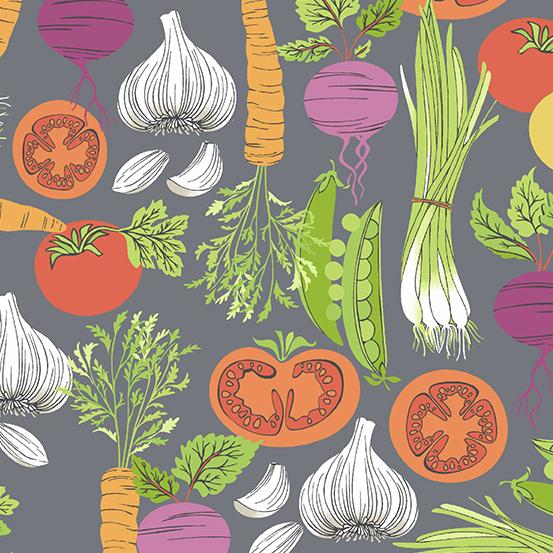 Farm to Fabric - Smorgasbord - Grey