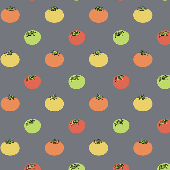 Farm to Fabric - Heirloom Tomatoes - Grey