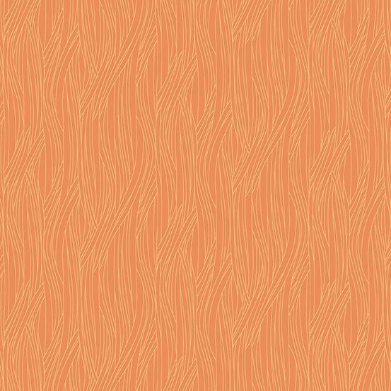 Farm to Fabric - Scallion Texture - Orange